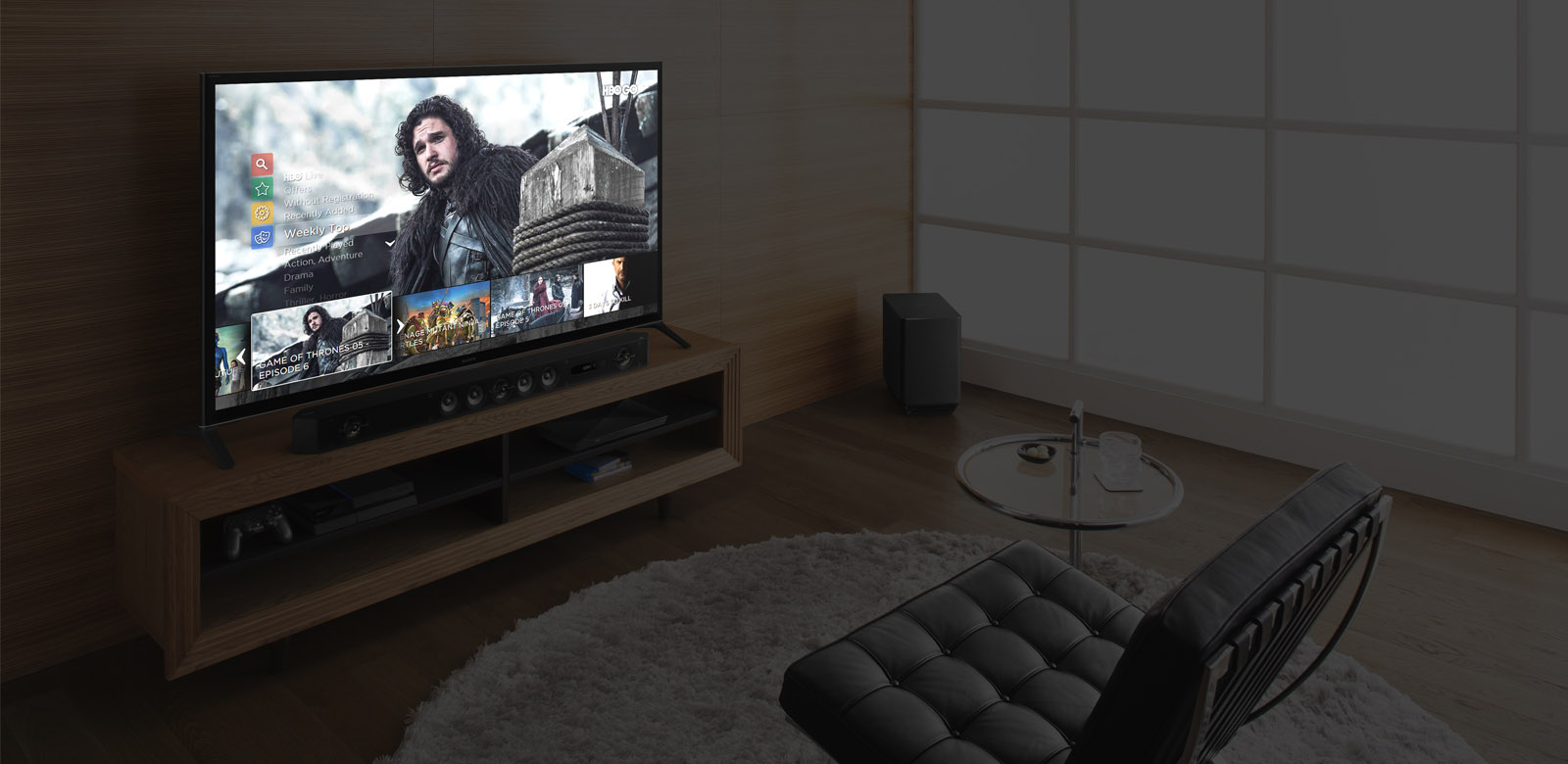 HBO.GO pro Smart TV – mockup
